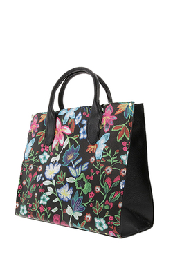 Geanta Dama Flower Multicolor Black 2