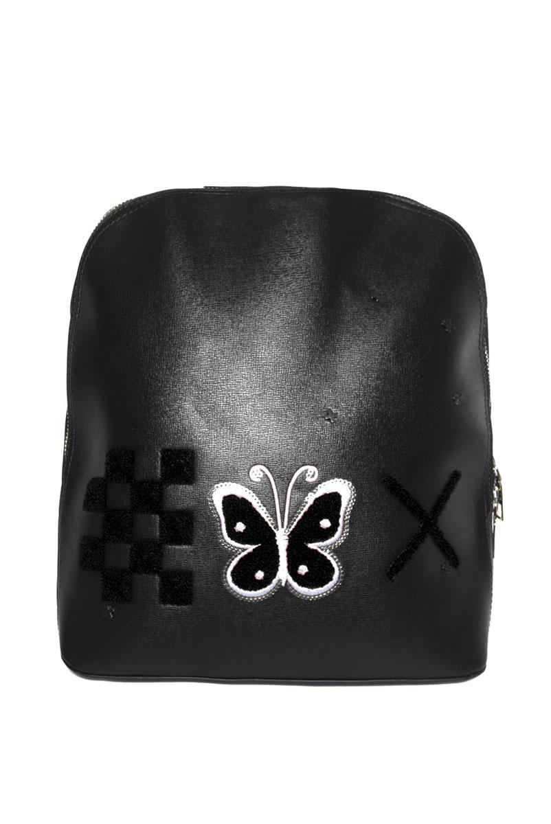 Rucsac Dama Butterflies2 Negru