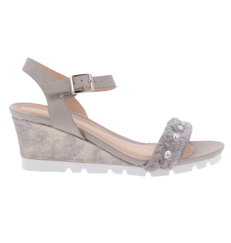 Sandale Dama cu Platforma MARIBON Gri